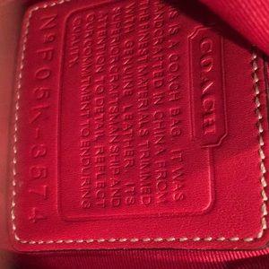 Coach Bags - Signature coach red medium suede bottom tote